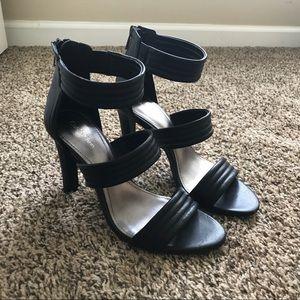 Calvin Klein black heels with back zipper